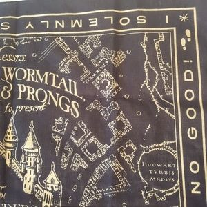 Warner Bros. Accessories - Marauder's Map Hogwarts Harry Potter Bandana Hank